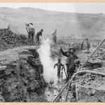 460-Steam drill in operation at dam. 1914.